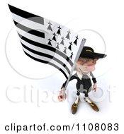 3d Korrigan Dwarf Holding A Breton Flag 4