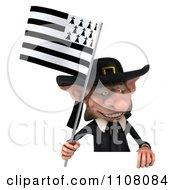3d Korrigan Dwarf Holding A Breton Flag 5
