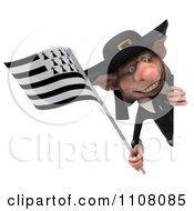 3d Korrigan Dwarf Holding A Breton Flag 6