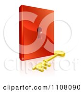 Clipart 3d Skeleton Key And Padlock Book Royalty Free Vector Illustration