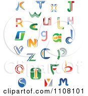 Clipart Abstract Colorful Letters A Through Z 3 Royalty Free Vector Illustration