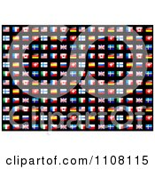 Clipart Seamless Flag Background Pattern On Black Royalty Free Vector Illustration by Vector Tradition SM