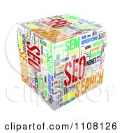 Clipart 3d Seo Cube With Words Royalty Free Illustration