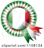Clipart Shiny Italian Flag Rosette Bowknots Medal Award Royalty Free Vector Illustration by MilsiArt