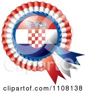 Clipart Shiny Croatian Flag Rosette Bowknots Medal Award Royalty Free Vector Illustration by MilsiArt