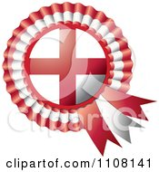Clipart Shiny England Flag Rosette Bowknots Medal Award Royalty Free Vector Illustration by MilsiArt