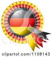 Clipart Shiny German Flag Rosette Bowknots Medal Award Royalty Free Vector Illustration