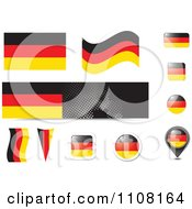 Clipart German Flag Website Design Elements Royalty Free Vector Illustration by MilsiArt