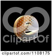 3d Halftone Lowercase Letter E On Black