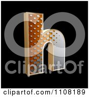 Clipart 3d Halftone Lowercase Letter H On Black Royalty Free Illustration