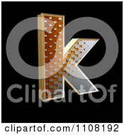 3d Halftone Lowercase Letter K On Black