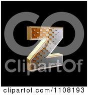 3d Halftone Lowercase Letter Z On Black