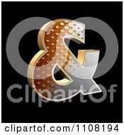 Clipart 3d Halftone Ampersand On Black Royalty Free Illustration by chrisroll