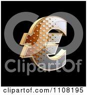3d Halftone Euro Symbol On Black