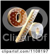 3d Halftone Percent Symbol On Black
