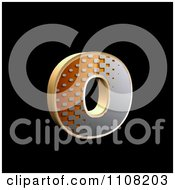 Clipart 3d Halftone Lowercase Letter O On Black Royalty Free Illustration