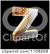 Clipart 3d Halftone Capital Letter Z On Black Royalty Free Illustration