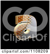 Clipart 3d Halftone Lowercase Letter A On Black Royalty Free Illustration