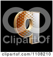 Clipart 3d Halftone Lowercase Letter Q On Black Royalty Free Illustration