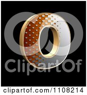 Clipart 3d Halftone Capital Letter O On Black Royalty Free Illustration