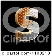 3d Halftone Capital Letter S On Black