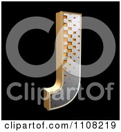 Clipart 3d Halftone Capital Letter J On Black Royalty Free Illustration