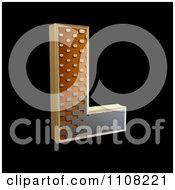 Clipart 3d Halftone Capital Letter L On Black Royalty Free Illustration