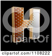 Clipart 3d Halftone Capital Letter H On Black Royalty Free Illustration