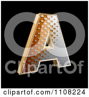 Clipart 3d Halftone Capital Letter A On Black Royalty Free Illustration