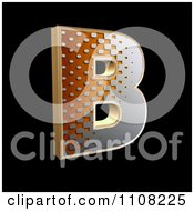 3d Halftone Capital Letter B On Black