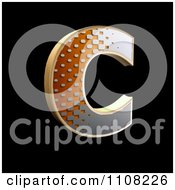 3d Halftone Capital Letter C On Black
