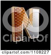 Clipart 3d Halftone Capital Letter N On Black Royalty Free Illustration