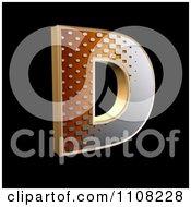 Clipart 3d Halftone Capital Letter D On Black Royalty Free Illustration