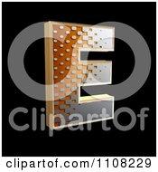 Clipart 3d Halftone Capital Letter E On Black Royalty Free Illustration