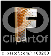 Clipart 3d Halftone Capital Letter F On Black Royalty Free Illustration