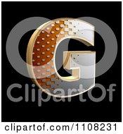 Clipart 3d Halftone Capital Letter G On Black Royalty Free Illustration