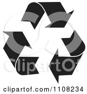 Clipart Black Recycle Arrows With A White Outline Royalty Free Vector Illustration by MilsiArt