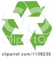 Clipart Green Recycle Arrows With White Outlines Royalty Free Vector Illustration by MilsiArt