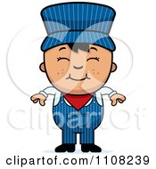 Clipart Happy Asian Train Engineer Boy Royalty Free Vector Illustration by Cory Thoman