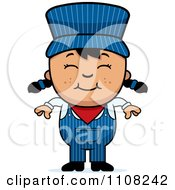 Clipart Happy Asian Train Engineer Girl Royalty Free Vector Illustration by Cory Thoman