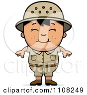 Clipart Happy Asian Safari Boy Royalty Free Vector Illustration by Cory Thoman
