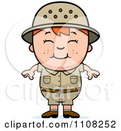 Clipart Happy Red Haired Safari Boy Royalty Free Vector Illustration