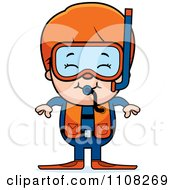 Clipart Happy Red Haired Scuba Boy Royalty Free Vector Illustration by Cory Thoman