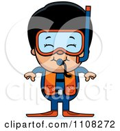 Clipart Happy Asian Scuba Boy Royalty Free Vector Illustration by Cory Thoman