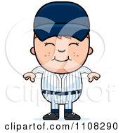 Clipart Happy Baseball Boy Royalty Free Vector Illustration