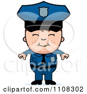 Clipart Happy Police Boy Royalty Free Vector Illustration