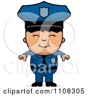 Clipart Happy Asian Police Boy Royalty Free Vector Illustration