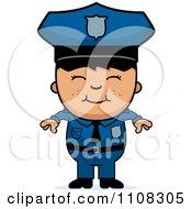 Happy Asian Police Boy