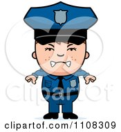 Clipart Angry Police Boy Royalty Free Vector Illustration