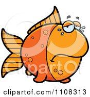 Clipart Crying Goldfish Royalty Free Vector Illustration